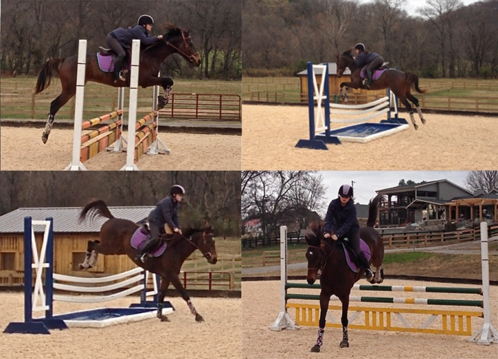 Here's a collage of photos from our warm-up jumps today!