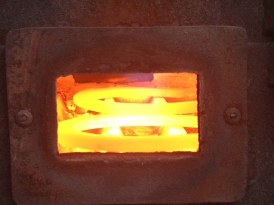 Those are my shoes, cooking in the forge!