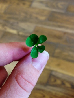 Mommy's four-leaf clover
