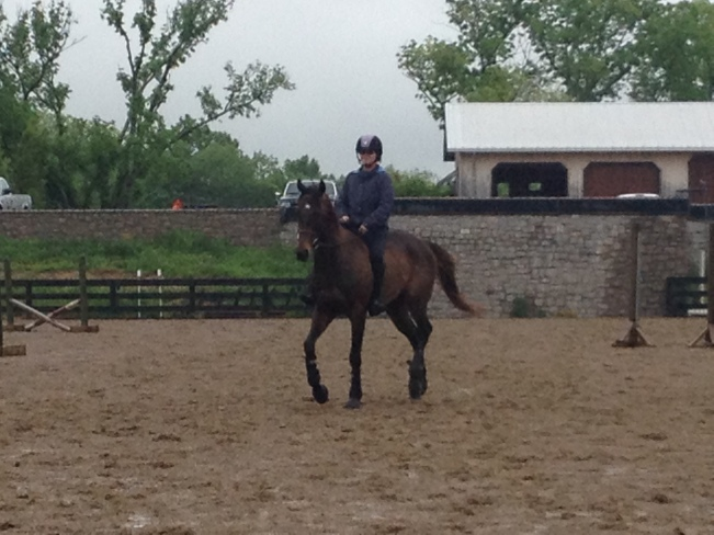 Practicing our dressage in the rain!
