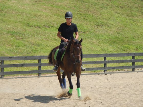 That's my friend Anthony and me trotting around!